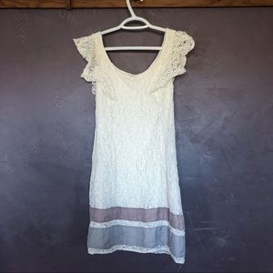Cream Lace Flapper/20s Style Dress by AE